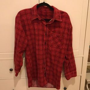 Urban Outfitters Vintage Red Flannel